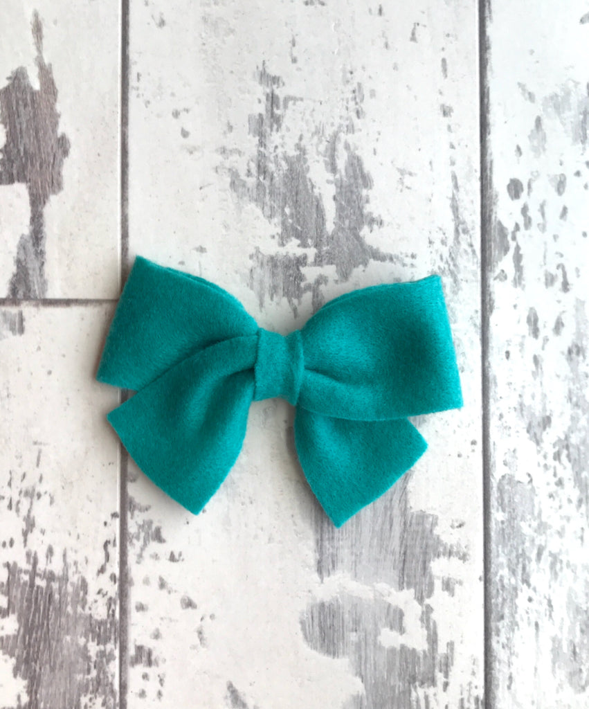 Teal Sailor Bow