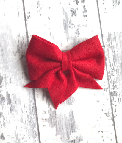 Red Lucy Bow