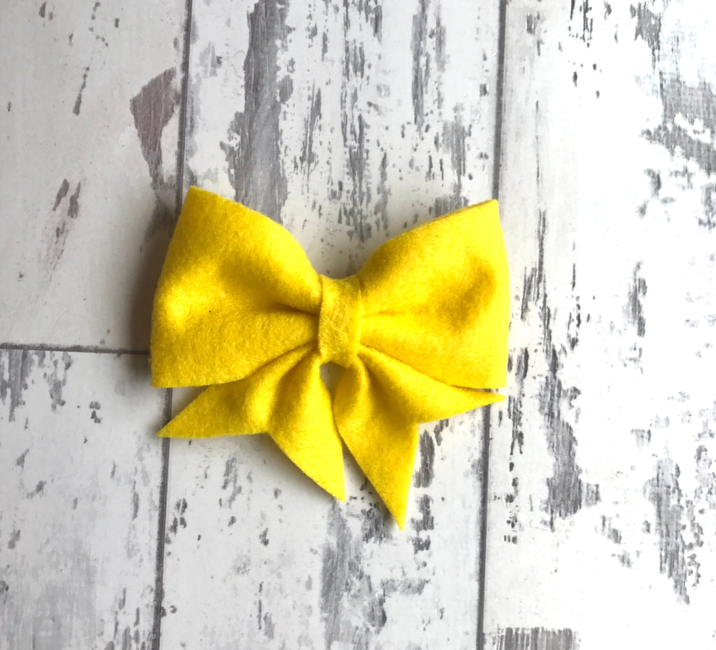 Lemon Yellow Lucy Bow