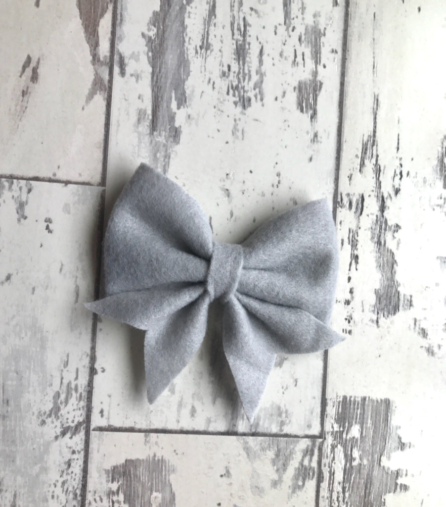 Elephant Gray Lucy Bow