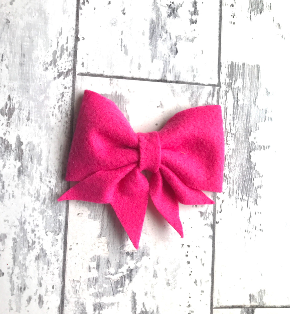 Magenta Lucy Bow