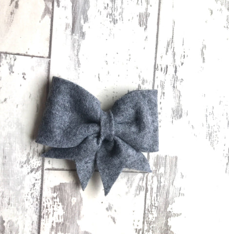 Heather Gray Lucy Bow