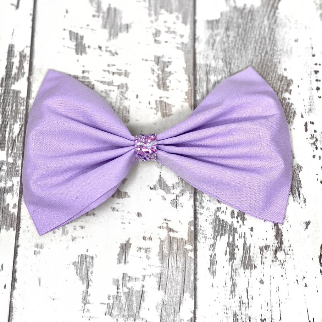 Lilac Cotton Bow