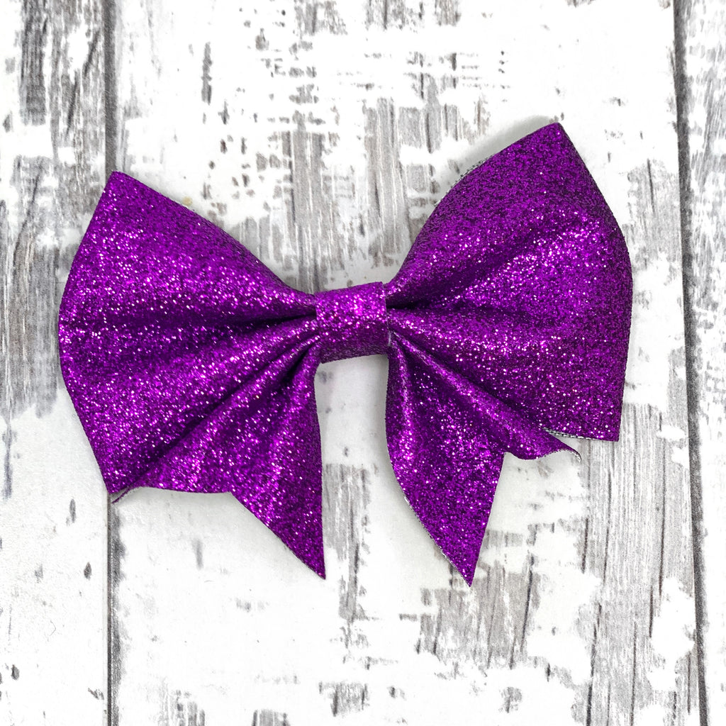 Violet Glitter Lucy Bow