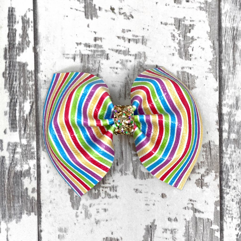 Rainbow Stripes Charlotte bow