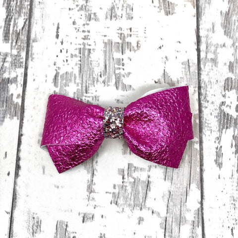 Magenta Metallic Sailor Bow