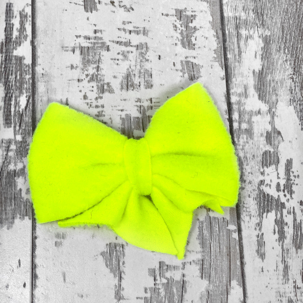 Neon Yellow Lucy Bow