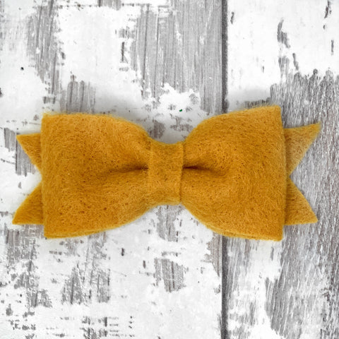 Mustard Claire Bow