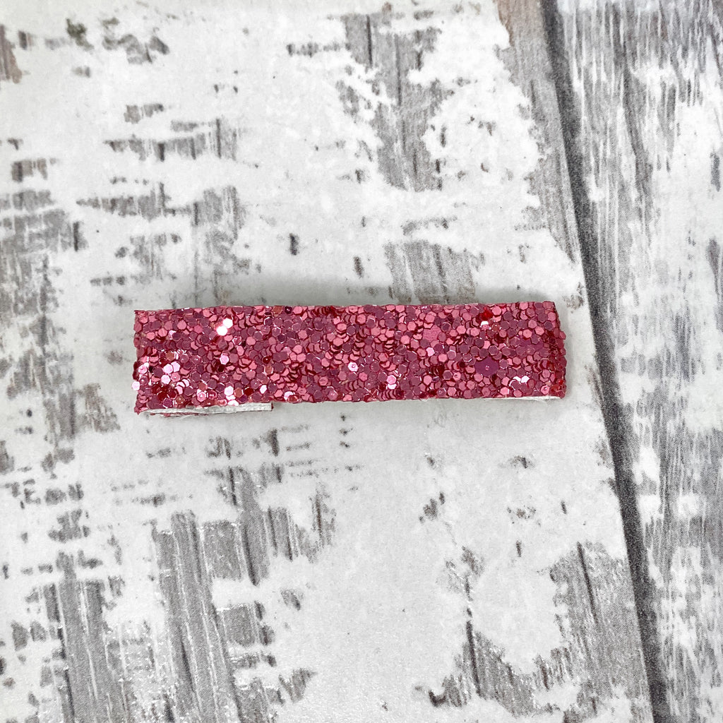 Baby Pink glitter Clip