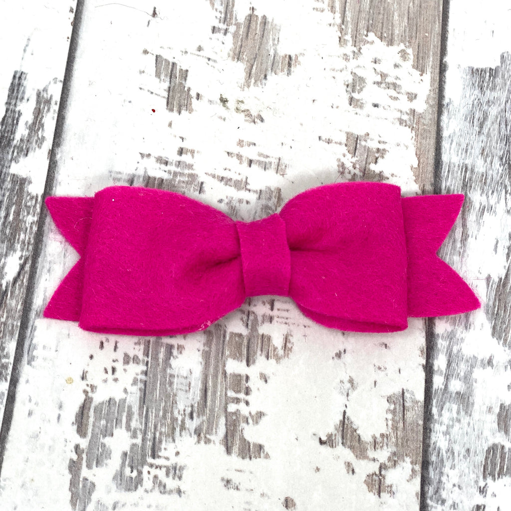 Magenta Claire Bow