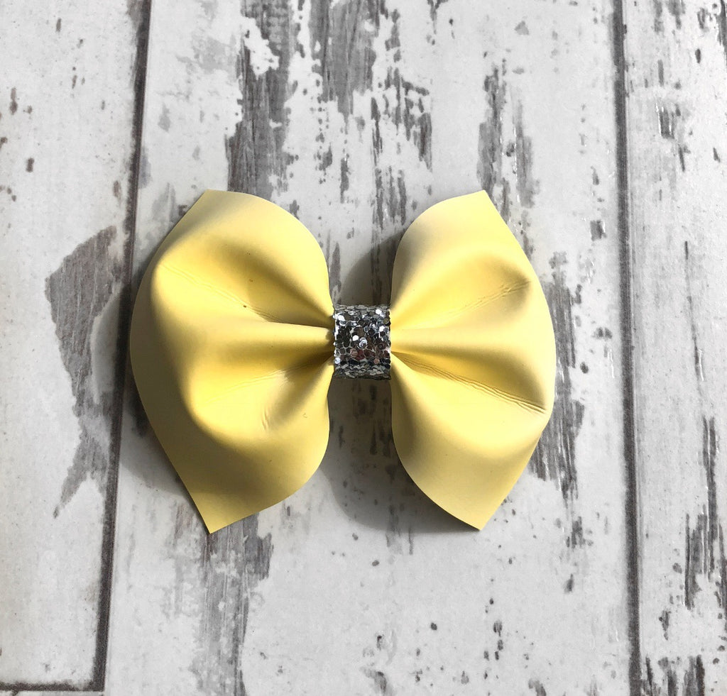 Yellow UV Charlotte bow