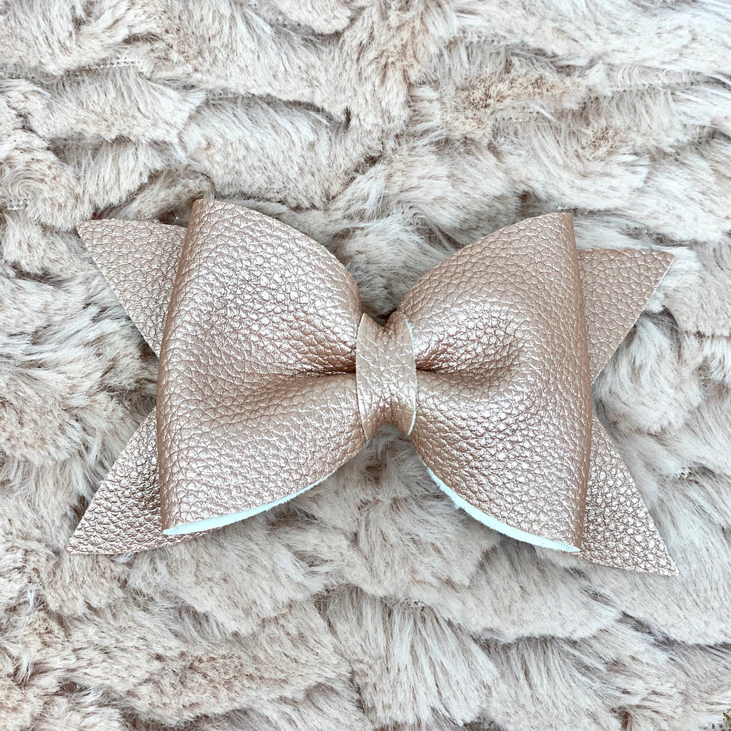 Pink Gold Metallic Daphne Bow
