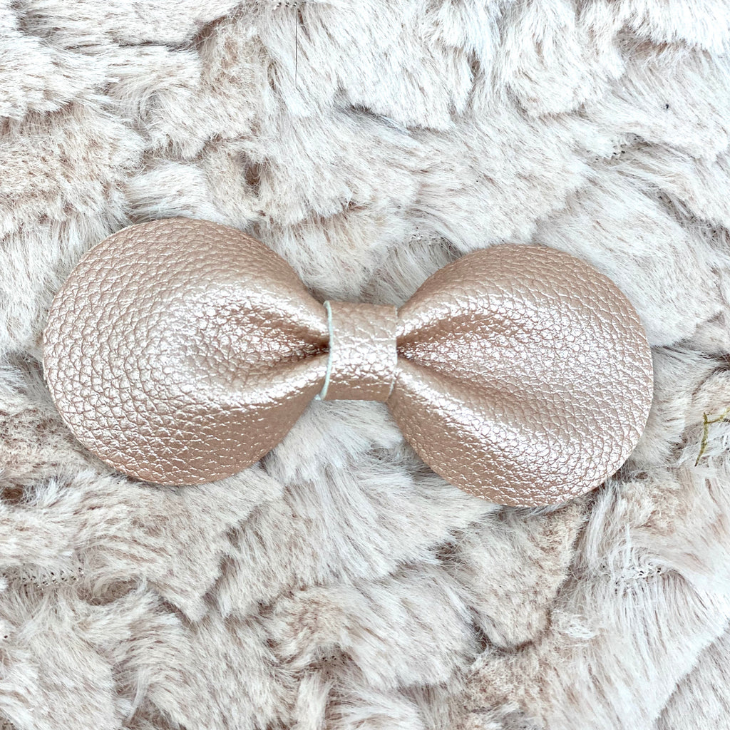 Pink Gold  Metallic Gracie Bow