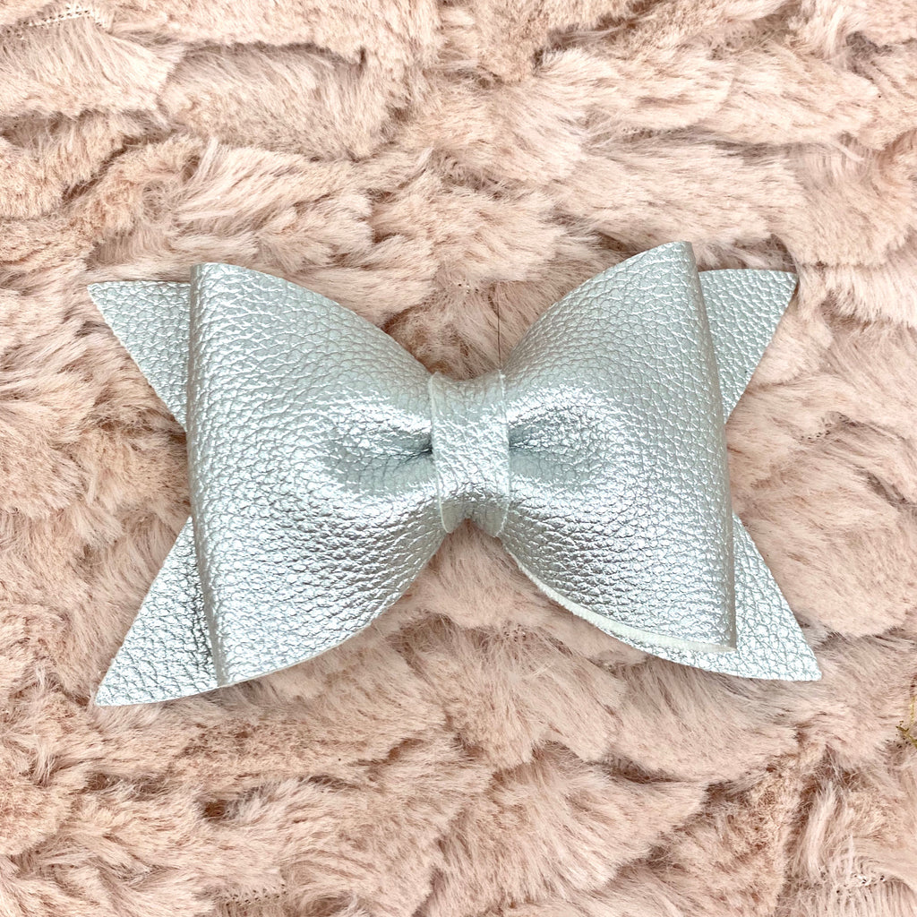 Platinum Metallic Daphne Bow