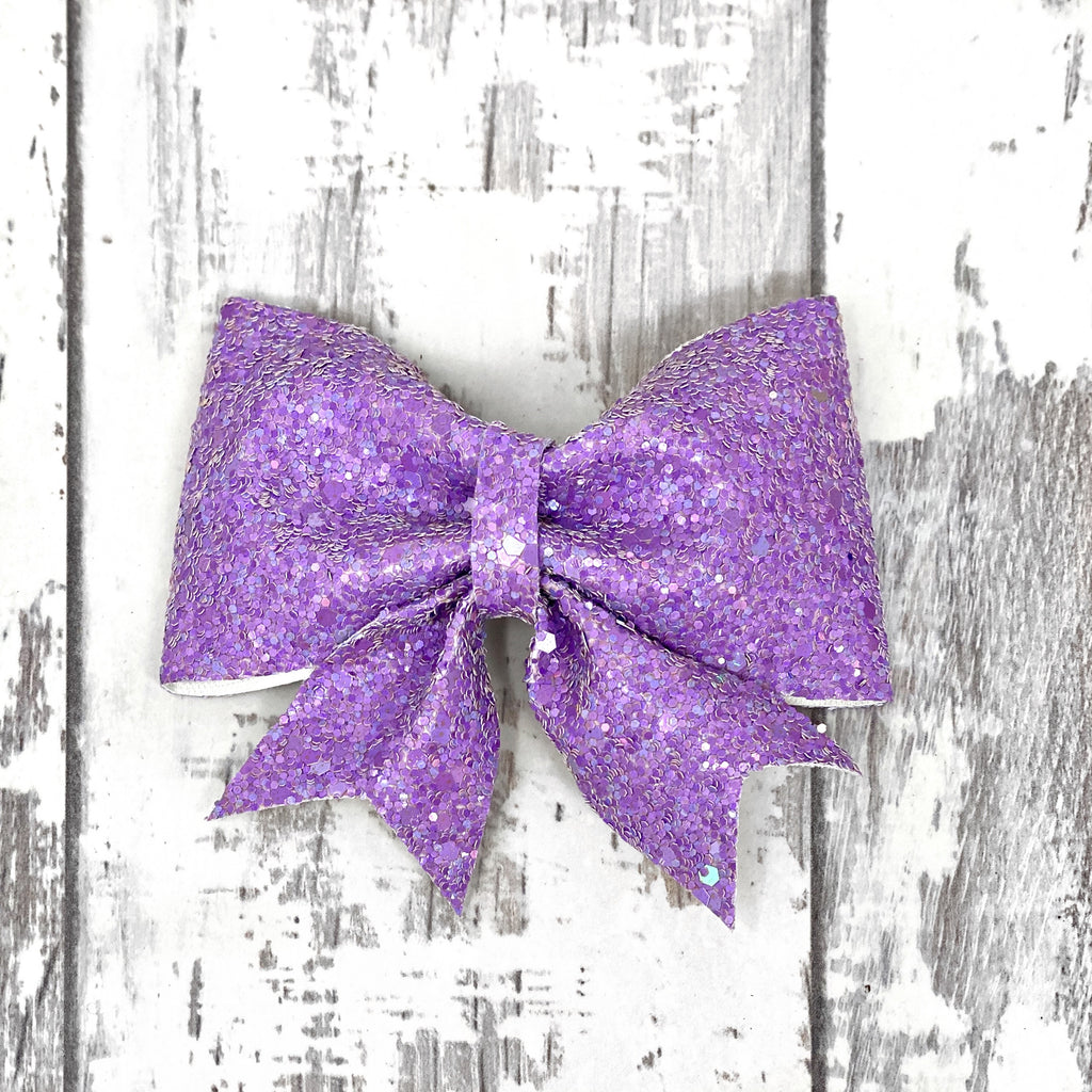 Lilac Glitter Lucy Bow