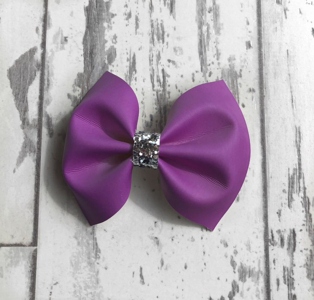 Purple UV Charlotte bow
