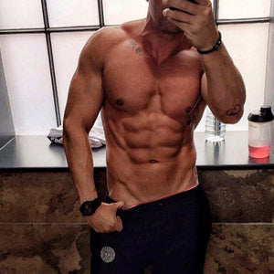 Counting Abs In #MuscleMutt Black Joggers