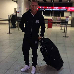 Travelling The World In #MuscleMutt Black Tracksuit