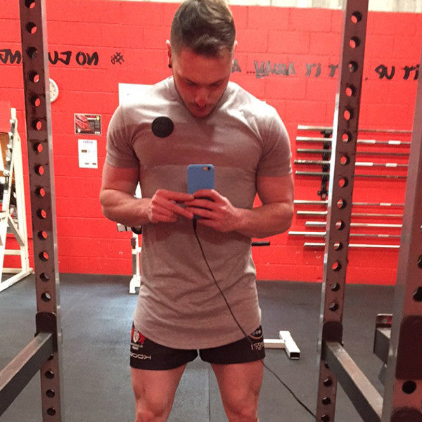 Leg Day In #MuscleMutt Grey Tee
