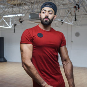 Modelling In #MuscleMutt Limited Edition Blood Red Tee
