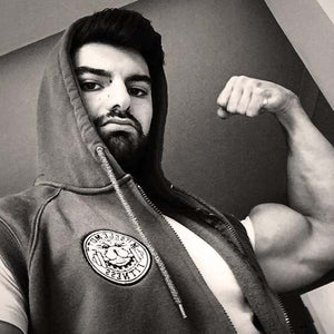 Black & White Filter In #MuscleMutt Sleeveless Zip Hoodie