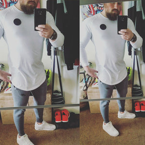 Bringing Style To Personal Training In #MuscleMutt White Long Sleeve Tee