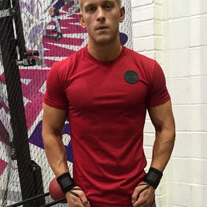 In Between Sets In #MuscleMutt Limited Edition Blood Red Tee