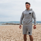 Premium Heather Grey Zip Hoodie