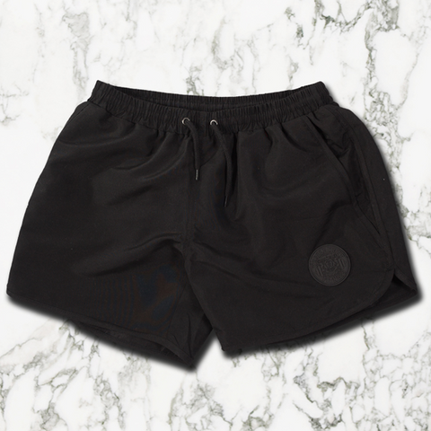 Stealth Black Aesthetic Shorts