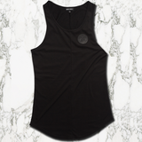 Muscle Mutt Mens Black Gymwear Vest