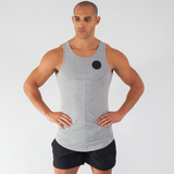 Muscle Mutt Mens Grey Gymwear Vest