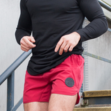 Muscle Mutt Mens Blood Red Gym Shorts