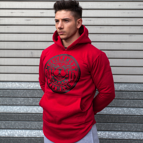 Blood Red Premium Curved Hem Hoodie