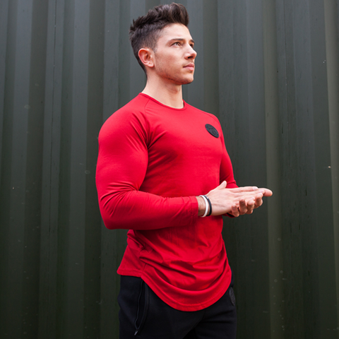 Blood Red Long Sleeve Tee