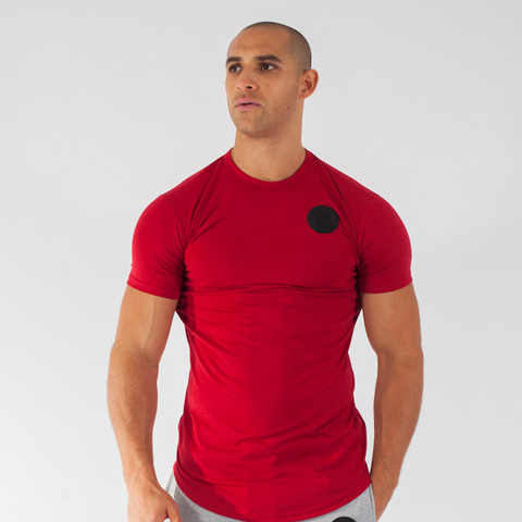 Blood Red Premium Curved Hem Tee