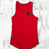 Muscle Mutt Mens Blood Red Gymwear Vest