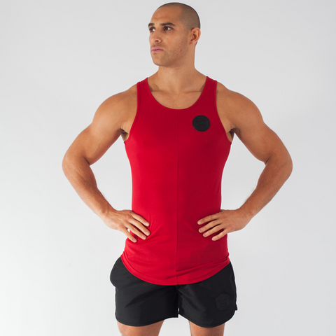 Blood Red Premium Curved Hem Vest