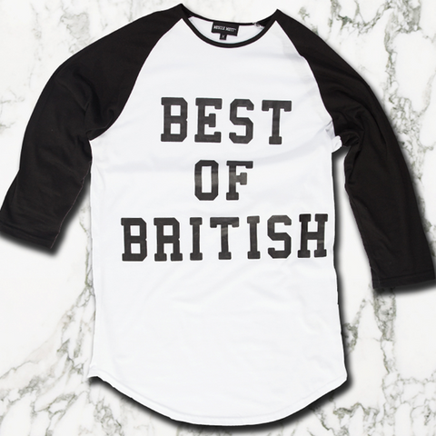 Best Of British Baseball Tee