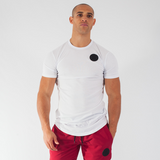 Muscle Mutt Mens White Tailored Fit Gym T-shirt