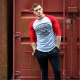 Red & Grey Baseball Tee