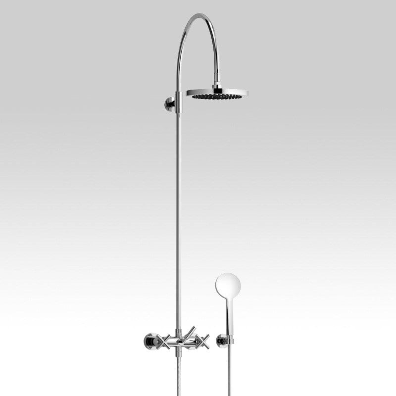 Dornbracht Tara. wall-mounted shower mixer with overhead shower ...