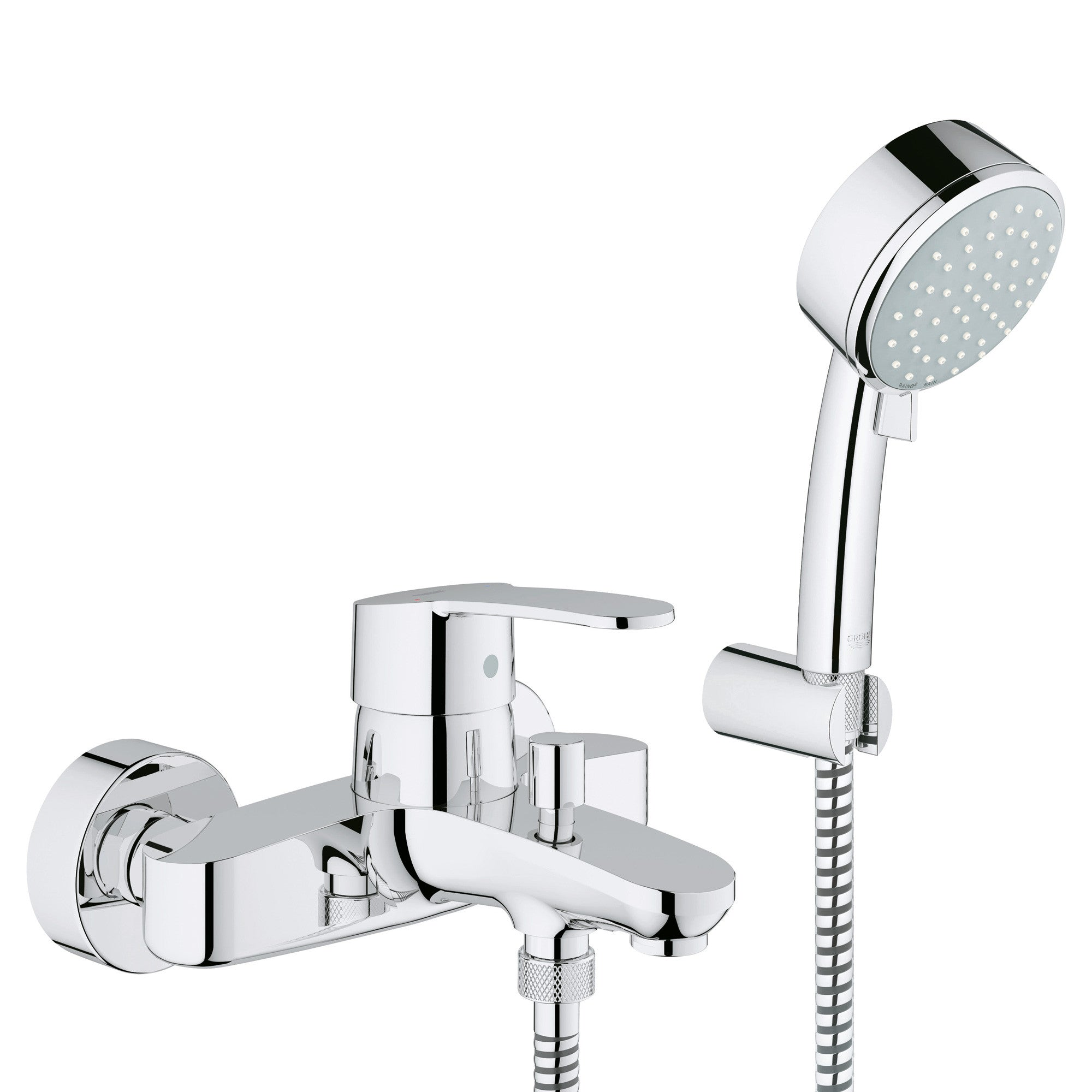 Grohe Europlus Bath Shower Wall Mounted Mixer Tap - grohe - europlus ...
