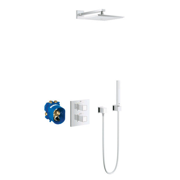 grohe grohtherm 3000 cosmopolitan concealed thermostat set cube with s alluring bathrooms. Black Bedroom Furniture Sets. Home Design Ideas