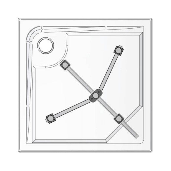 ideal standard shower tray mounting set size 1 k935967