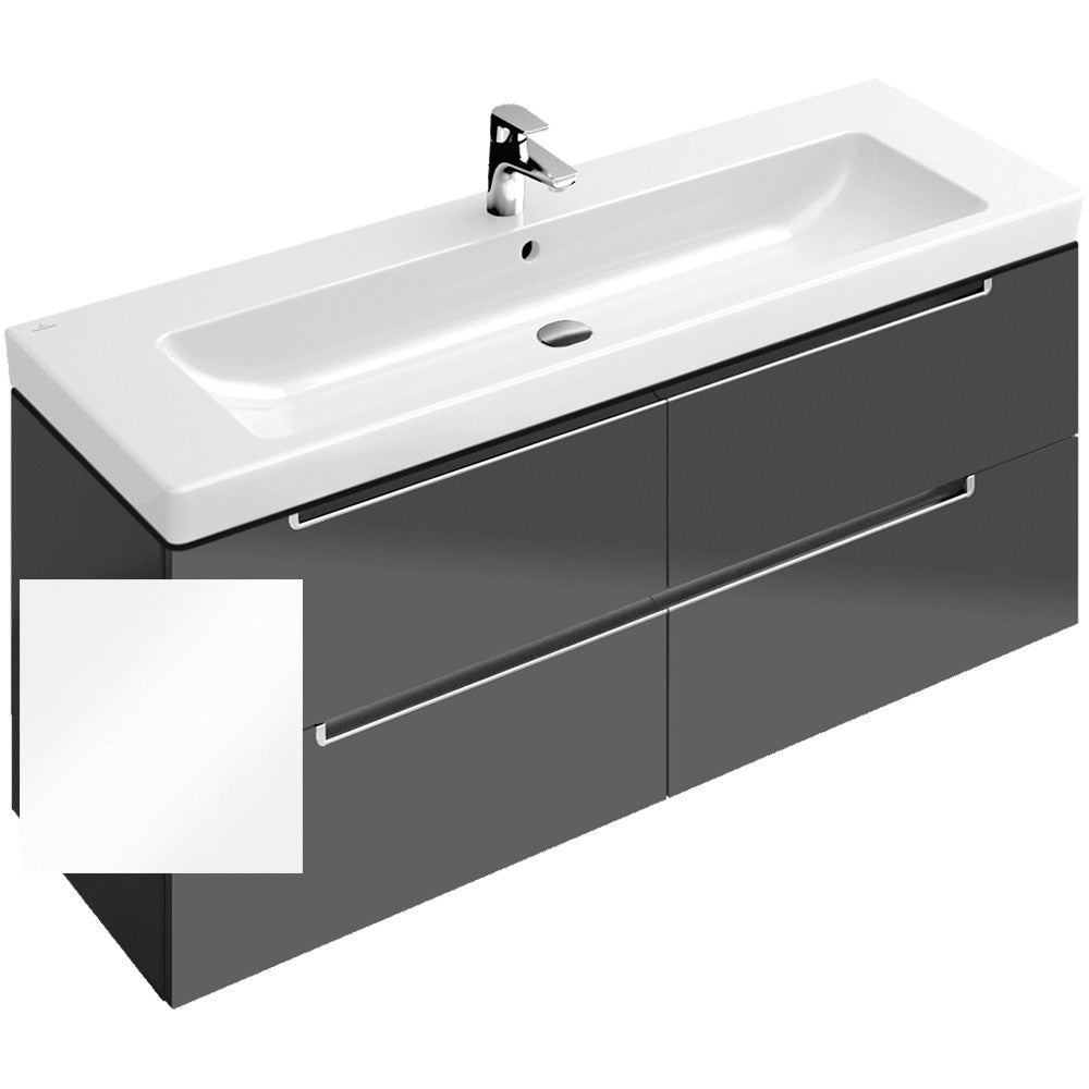 Villeroy boch subway 2 0 vanity unit 130cm a69110 for Bathroom planner villeroy boch
