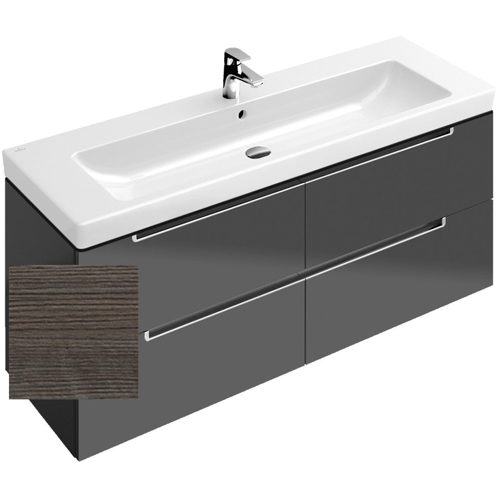 villeroy boch subway 2 0 vanity unit 130cm a69110 alluring bathrooms. Black Bedroom Furniture Sets. Home Design Ideas