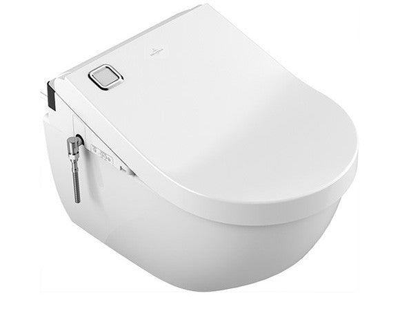 Villeroy   Boch Subway 2 0 open rim toilet  ViClean U7 toilet seat L 56  W 37cm Combi Pack white with Ceramicplus 5614UER1. Villeroy   Boch Subway 2 0 open rim toilet  ViClean 5614UER1