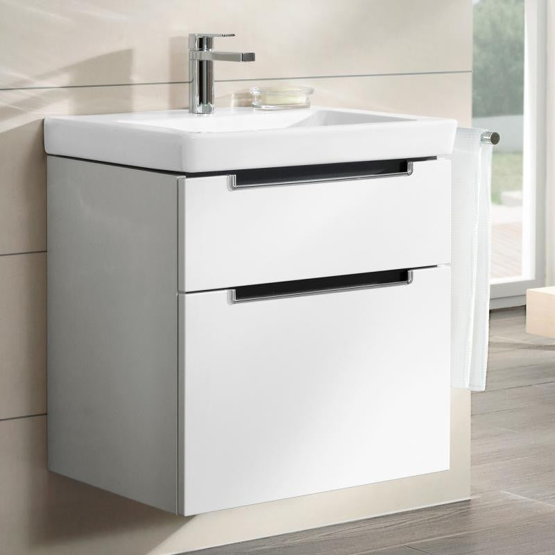 villeroy boch subway 2 0 2 drawer vanity unit 65cm. Black Bedroom Furniture Sets. Home Design Ideas