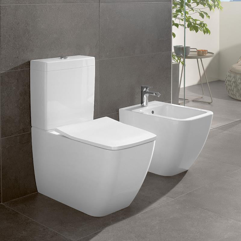 villeroy boch venticello close coupled washdown toilet rimless 4612r0 - Villeroy And Boch Baths