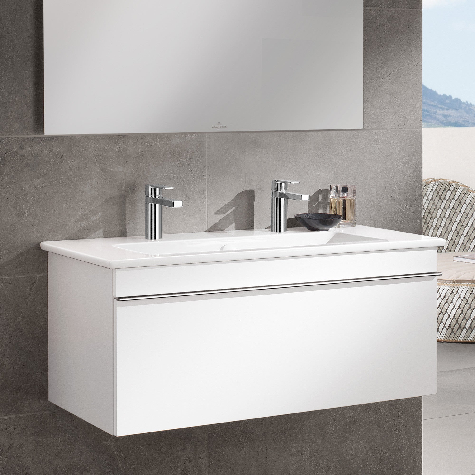 wall hung vanity unit basins tagged venticello. Black Bedroom Furniture Sets. Home Design Ideas